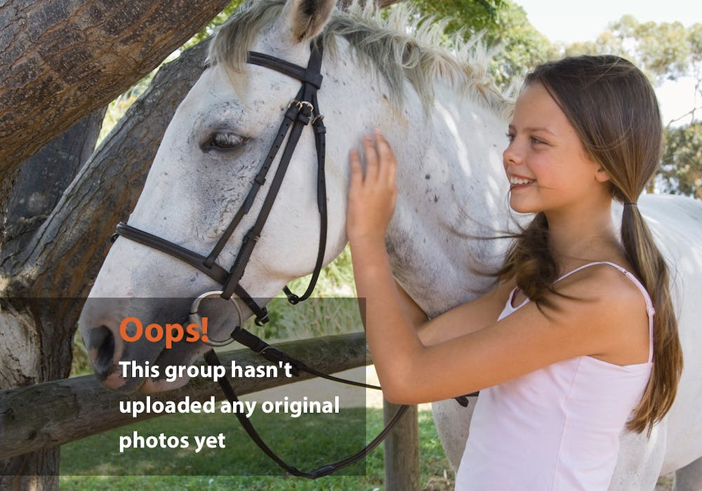 Girl Horse Oops Photo: Girl and horse say hello